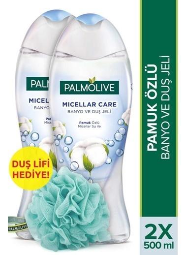 Palmolive Palmolive Micellar Care Pamuk Özlü 2'li Duş Jeli 500 ml ve Duş Lifi Hediye Renksiz